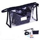 Custom 3-Piece Transparent PVC Cosmetic Bag Set, 9 1/2