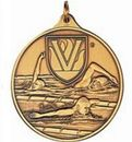Custom 400 Series Stock Medal (Male Swimming) Gold, Silver, Bronze