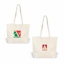 Custom Canvas Tote w/ Velcro Closure, Grocery Shopping Bag, 19