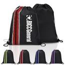 Custom Vertical Zippered Drawstring Backpack, 13.50