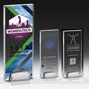 Custom 4 Color Process Tall Award w/ Chrome Base (3-1/2
