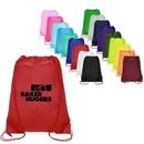 Custom Large Polyester Drawstring Backpack, 14.00