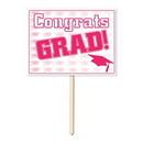 Custom Plastic Congrats Grad Yard Sign, 11