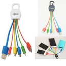 Custom 5 in 1 Multi Charge Cable with keytag, 5 1/2