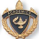 Blank Fully Modeled Epoxy Enameled Scholastic Award Pins (Academics), 7/8