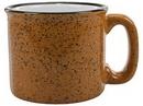 Custom Santa Fe Mug, White in/Hilo Red out, 3 9/16