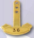 Custom Stock Ribbon Year Tabs - 34 Year