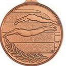 Custom 500 Series Stock Medal (Male Swimmer) Gold, Silver, Bronze