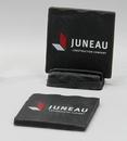 Custom 2-Piece Square Shale-Texture Coaster Set w/Base (UV Print), 4
