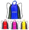 Custom Drawstring Backpack W/Reflective Trim, 14
