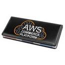 Custom Leather Desktop Caddy with 4 piece Sticky Notepad, 1.75