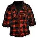 Custom Red Flannel Shirt Pin, 1