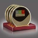Custom Oakridge Coasters - Set of 4 Gold (Sublim Gold), 4.5