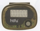 Custom Translucent Pedometer/Step Counter - Brown, 1.75