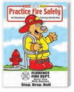 Custom Practice Fire Safety Coloring Book, 8