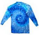 Custom Blue Jerry Long Sleeve Tye Dye Shirt