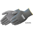 Ultra Thin Gray Polyurethane Palm Coated Gray Knit Gloves