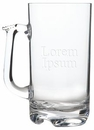 Custom 32 Oz. Large Acrylic Beer Mug w/ Rim Full Capacity, 7 1/4