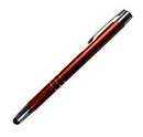 Custom PDA HAMILTON Aluminum Barrel, Metallic clip Plunger Action Ball Point Pen (Stock 3-5 Days)