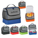 Custom Two Compartment Lunch Pail Bag, 9 1/2