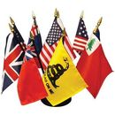 Custom Flags Of Our Country Desk Set, 6