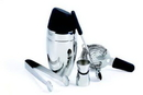 Custom Barman's Deluxe Cocktail Shaker Set with Tongs (No Imprint)