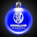 Custom Blue Round Light Up Pendants