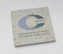 Custom Square Real Concrete Coaster, 4