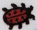 Custom Floral Embroidered Applique - Small Ladybug