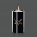 Custom Medium Black Tissot Candle Holder (3 1/2