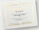 Custom Foil Embossed Stock Certificate, 8 1/2