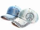 Custom Blinged Out Denim Hat, 22
