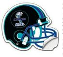 Tradenet Publishing Custom Football Helmet Shape Uv Coated White Vinyl Sticker, 10 1/8