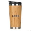Custom Travel Coffee/ Water Bamboo Bottle, 5 3/10