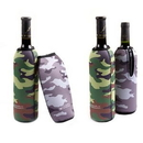 Custom Camo Wine Bottle Koozies With Zipper, 9