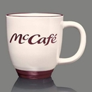 Custom Kentucky Mug - 14oz Almond/Burgundy