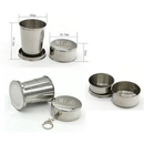 Custom Collapsible Stainless Steel Trave Cup 140ml, 2 8/16