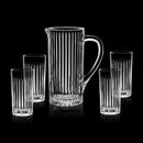 Custom 41 Oz. Bacchus Crystalline Pitcher W/ 4 Cooler Glasses