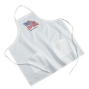 Custom White Poly/ Cotton Twill BBQ Apron