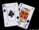 Custom Playing Cards / Ace & Jack of Spades Flash Lapel Pins