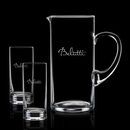 Custom 48 Oz. Crystalline Rexdale Pitcher W/ 2 Hiball Glasses