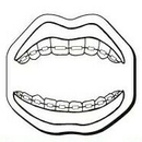 Custom Mouth Notekeeper Magnet - 35 Mil Process Color (1 3/4