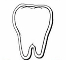 Custom Tooth Notekeeper Magnet - 20 Mil Process Color (2 1/2
