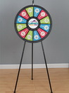 Custom 12-Slot Black Floor Stand Prize Wheel Game
