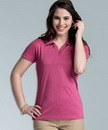 Custom Women's Heathered Polo Shirt
