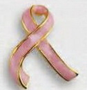 Blank Stock Shape Awareness Ribbon Lapel Pin - 3-Dimensional Design, 1
