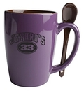 Custom Reading Spoon Mug (Chocolate/Indigo Purple)