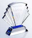 Custom Crystal Prosperity Award, 7 3/4