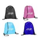 Custom 210D Polyester Drawstring Bag, 16