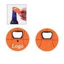 Custom Basketball Shaped Bottle Opener with Magnet, 2 3/4